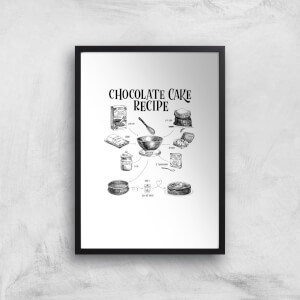Chocolate Cake Recipe Art Print