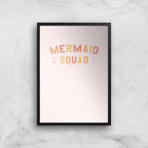 Mermaid Squad Art Print
