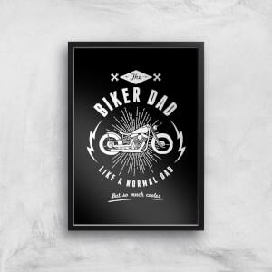 Biker Dad Art Print