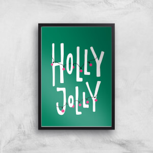 Holly Jolly Art Print