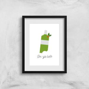 Gin-gle Bells Art Print