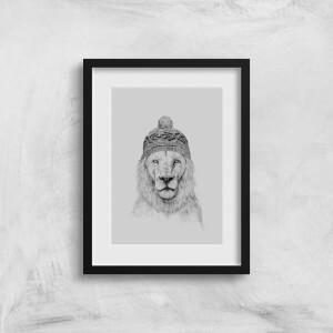 Lion With Hat Art Print