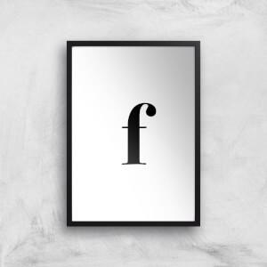 F Art Print