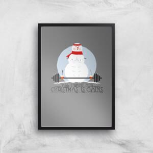 All I Want For Christmas Is Gains Art Print