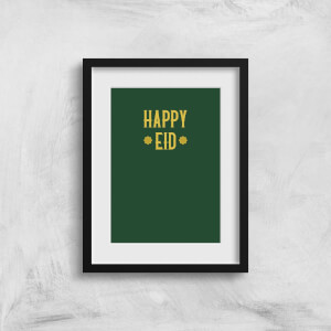 Happy Eid Gold Art Print