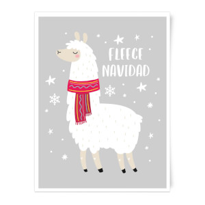 Fleece Navidad Art Print
