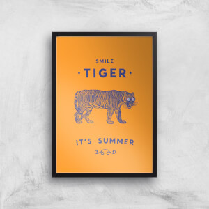 Smile Tiger Art Print