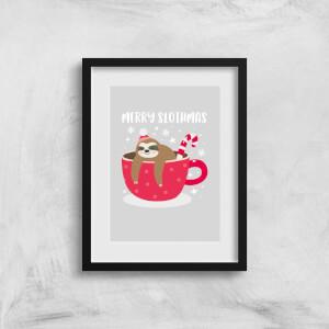 Merry Slothmas Art Print
