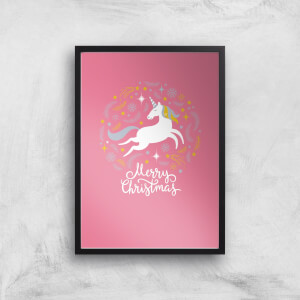 Unicorn Christmas Body Art Print