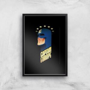 Captain Europe Art Print