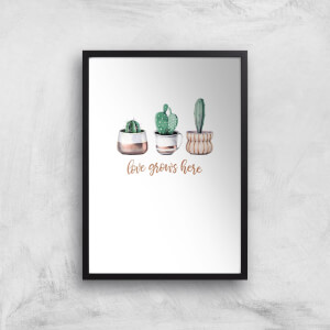 Love Grows Here Art Print