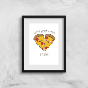 A Pizza My Heart Art Print
