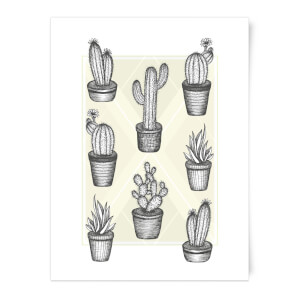 Prickly Friends Art Print
