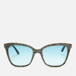 Karl Lagerfeld Women's Butterfly Frame Sunglasses - Black Glitter