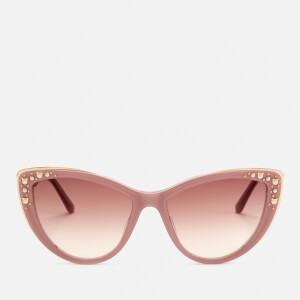 Karl Lagerfeld Women's Cat Eye Frame Sunglasses - Violet