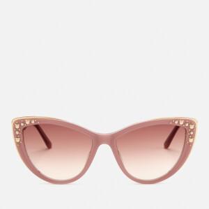 Karl Lagerfeld Women's Cat Eye Frame Sunglasses - Violet