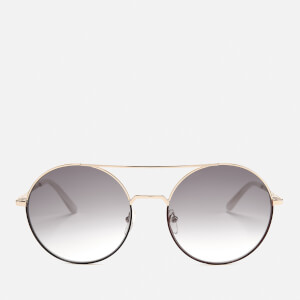 Karl Lagerfeld Women's Round Frame Sunglasses - Brown/Gold