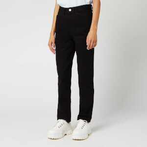 JW Anderson Women's JWA Anchor Embroidery Skinny Jeans - Black