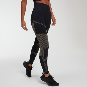 Impact Seamless Leggings - Musta