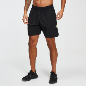 MP Training Men's Stretch Woven 7 Inch Shorts - Black