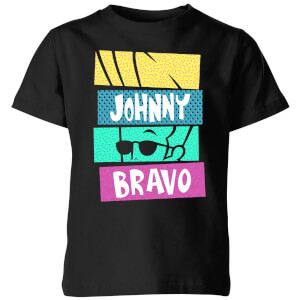 Cartoon Network Spin-Off Johnny Bravo 90's Slices Kinder T-Shirt - Schwarz