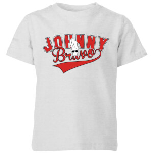 Cartoon Network Spin-Off Johnny Bravo Varsity Kinder T-Shirt - Grau