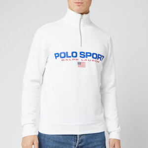 Polo Sport Ralph Lauren Men's Half Zip Sweatshirt - White