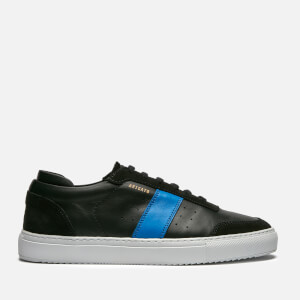 Axel Arigato Men's Dunk Leather Trainers - Black/Blue