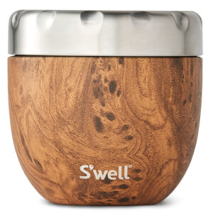 S'well Eats 2 in 1 The Teakwood Nesting Food Bowl 21.5oz