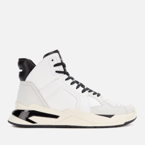 Balmain Men's B Ball Calf Skin Trainers - White/Black