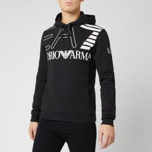 Emporio Armani EA7 Men's Large Logo Hoodie - Black