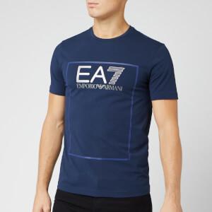 Emporio Armani EA7 Men's Box Logo T-Shirt - Navy