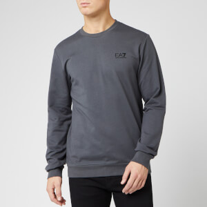 Emporio Armani EA7 Men's Small Logo Crew Neck Sweatshirt - Dark Grey