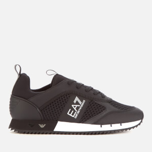 Emporio Armani EA7 Men's Mesh Runner Trainers - Black/White