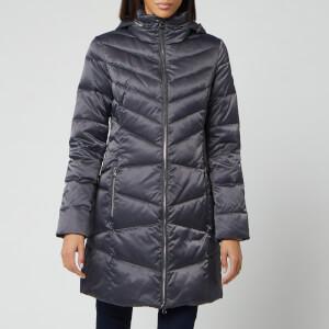 Emporio Armani EA7 Women's Long Down Jacket - Magnet Grey