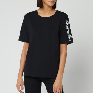 Emporio Armani EA7 Women's Side Logo T-Shirt - Black
