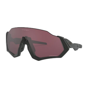 Oakley Flight Jacket Sunglasses - Matte Black/Prizm Road Black