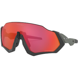 Oakley Flight Jacket Sunglasses - Matte Carbon/Prizm Trail Torch