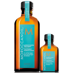 Moroccanoil Home & Away Set (Moroccanoil Treatment 100ml + Free Moroccanoil Treatment 25ml)