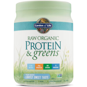 Organic Raw Protein And Greens Powder - Lightly Sweet - 488G