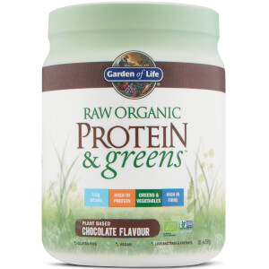 Organic Raw Protein And Greens Powder - Chocolate - 458G