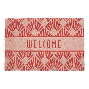 Premier Housewares Dusky Pink Welcome Doormat