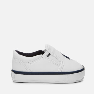 Polo Ralph Lauren Baby's Bal Harbour II Polo Player Slip On Trainers - White/Navy