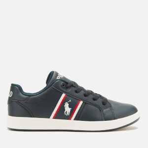 Polo Ralph Lauren Kids' Quigley Side Stripe Logo Trainers - Navy/Red/White
