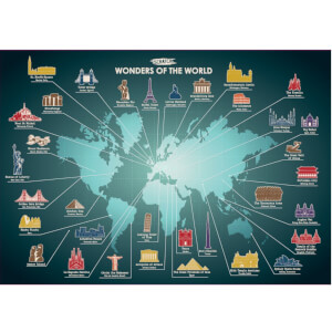 Wonders of the World Scratch Poster