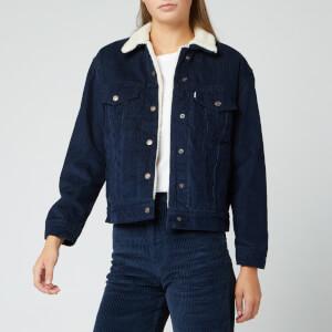 Levi's Women's Ex-Boyfriend Sherpa Trucker Jacket - Vintage Navy Blazer