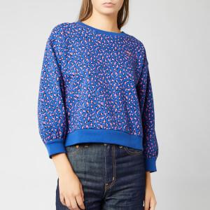 Levi's Women's Isa Crew Sweatshirt - Fun Leopard Sodalite Blue