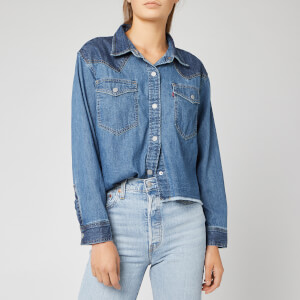 Levi's Women's Mirella Raw Edge Western Shirt - Happy Together