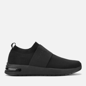 Armani Exchange Men's Knitted Slip-On Trainers - Black