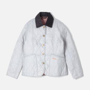 Barbour Girl's Liddesdale Quilt Jacket - Ice White/Rose Bay